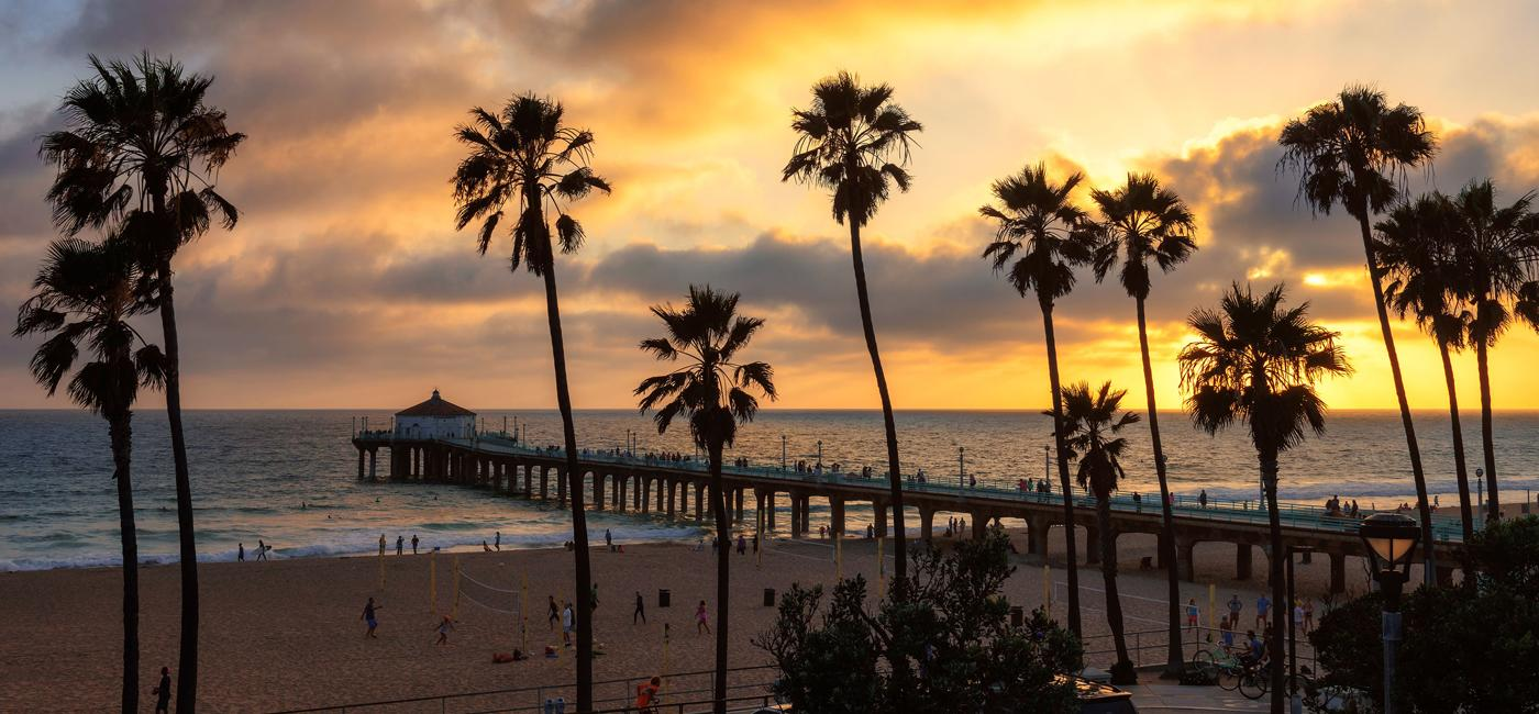 Manhattan Beach and Pier in Southern California